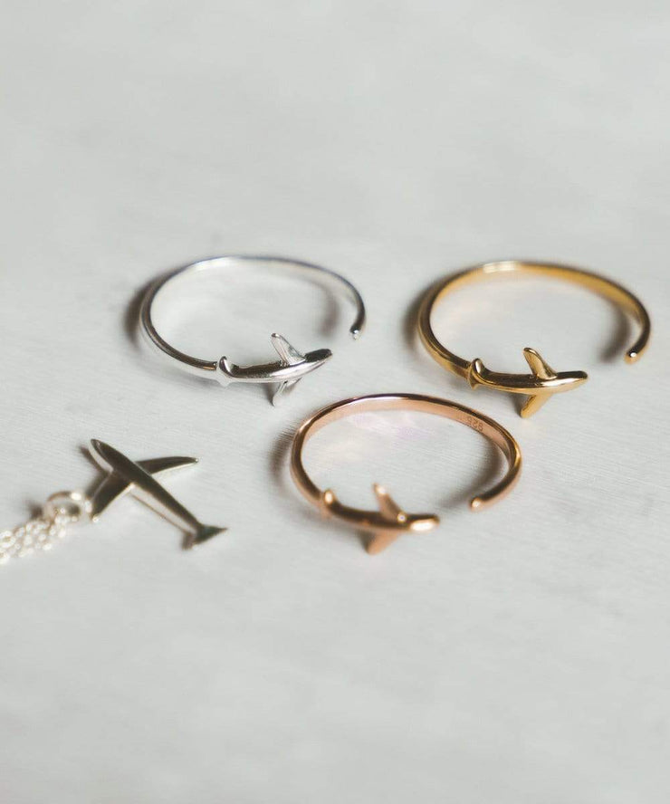 Serengetee - Wear The World Rose Gold Plane Ring From New York