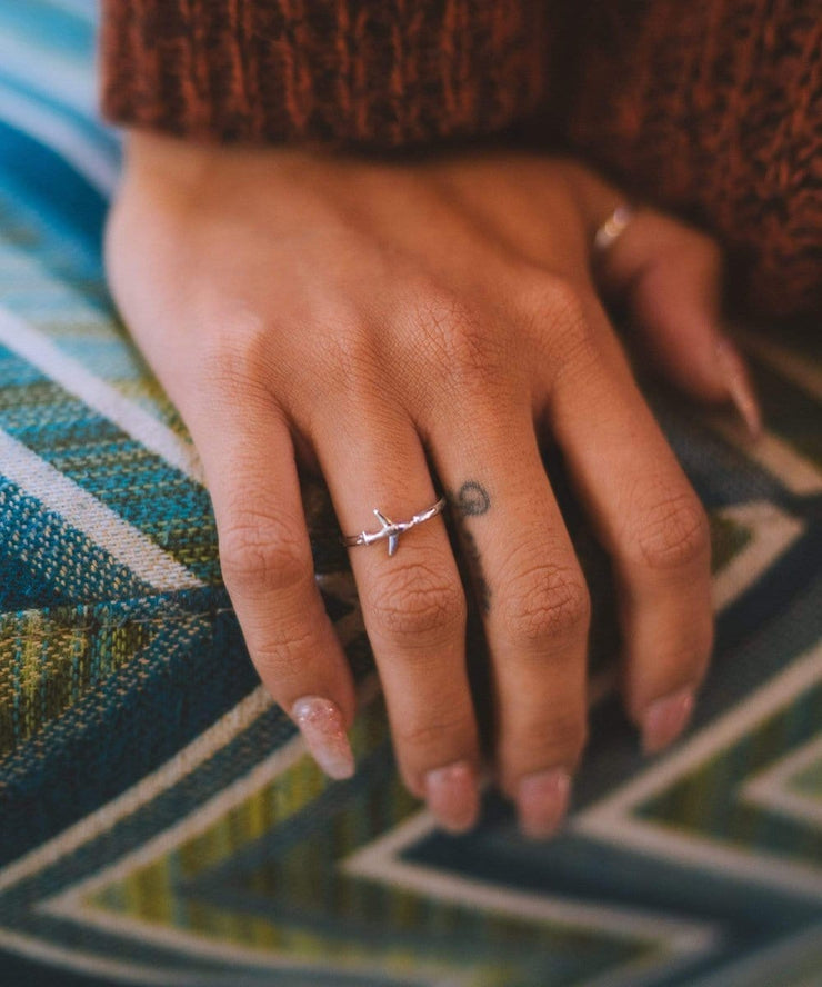 Serengetee - Wear The World Silver Plane Ring From California