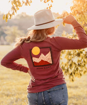 Serengetee - Wear The World Summit Sunset Long Sleeve