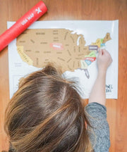 Serengetee - Wear The World USA Scratch Map