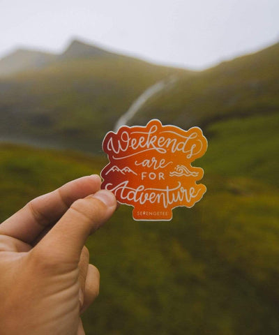 Serengetee - Wear The World Weekends Are For Adventure Sticker