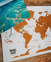 Serengetee - Wear The World World Scratch Map