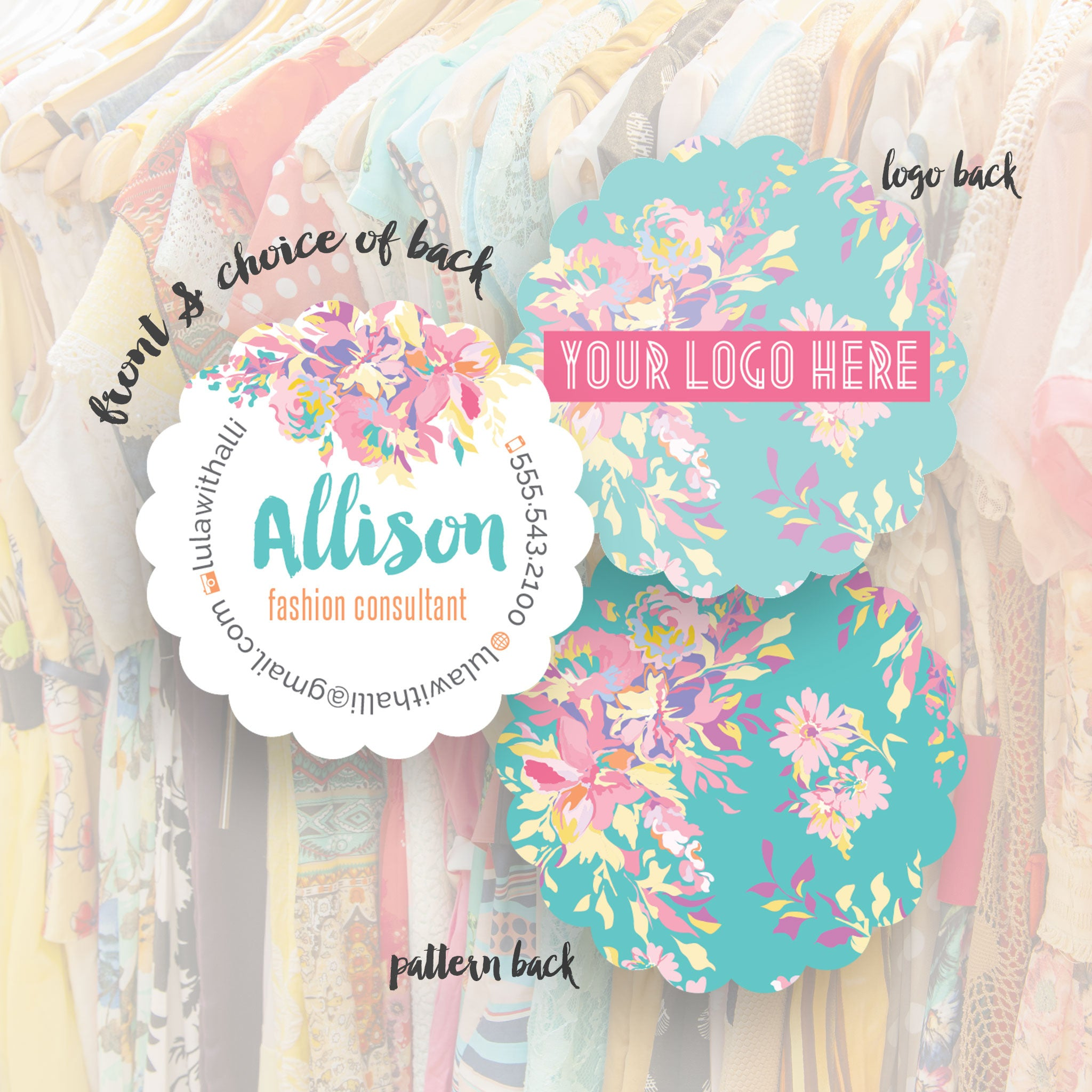 Lularoe business cards creative designs templates allison business cards reheart Gallery