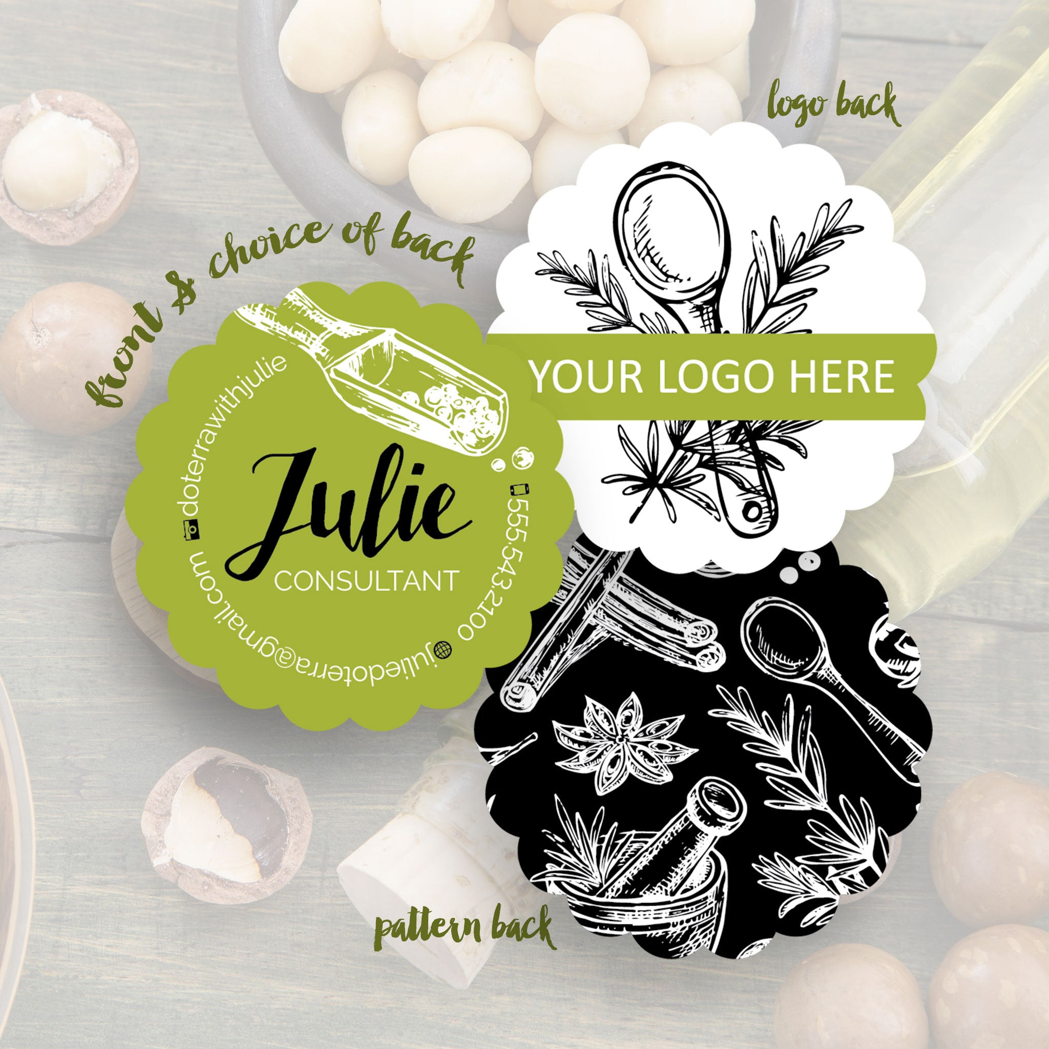 Doterra business cards creative designs templates julie business cards reheart Gallery