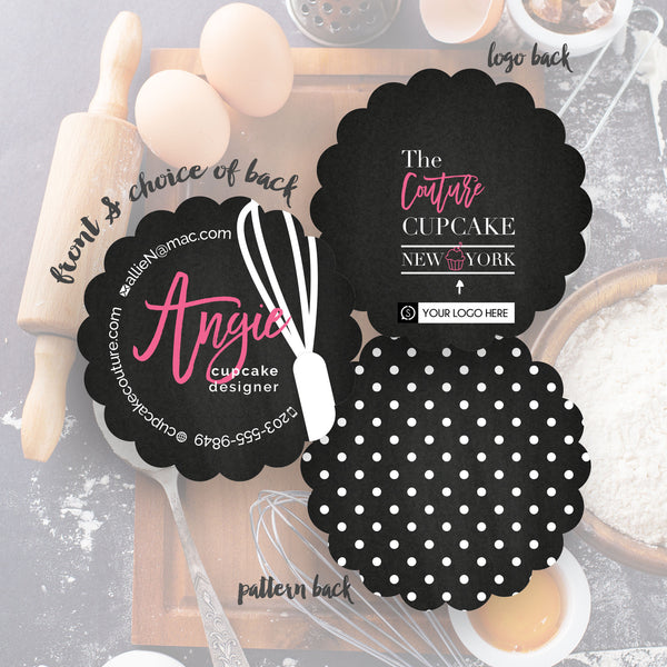 Bakery business cards perfect for cake cupcake shops angie business cards reheart Gallery