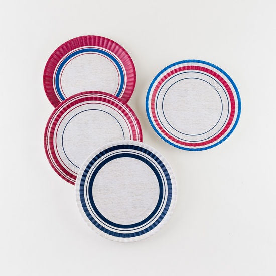 "Bunting ""Paper"" Plate Set of 4"