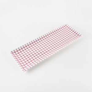 Red Gingham Sandwich Tray, Melamine