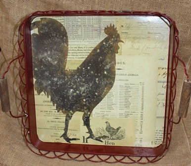 Tray with Rooster 16.5""