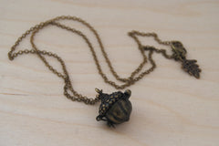 Brass Acorn Locket