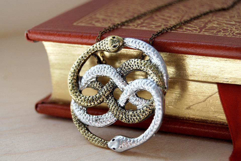 Neverending Story Snakes Auryn Necklace