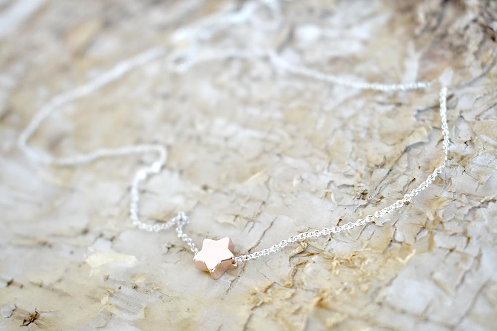Little Rose Gold Star Necklace | Cute Little Star Charm Necklace | Simple Jewelry | Rose Gold Charm - Enchanted Leaves - Nature Jewelry - Unique Handmade Gifts