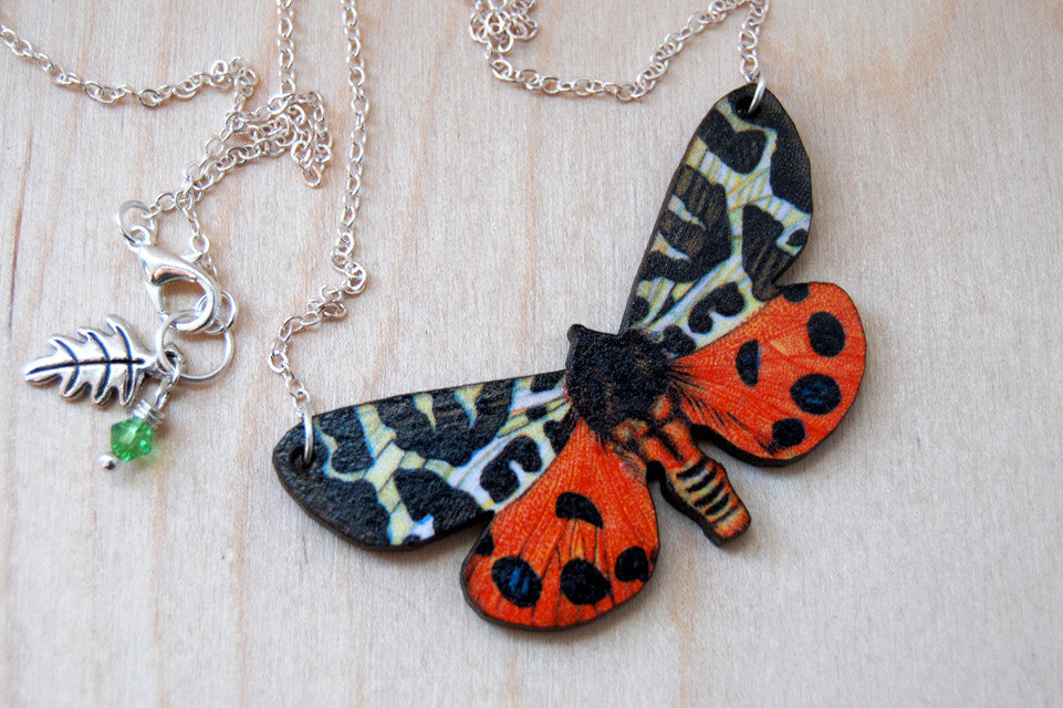 Tiger Moth Necklace