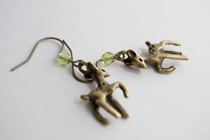 Little Brass Deer Earrings