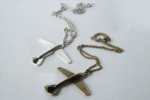Large Airplane necklace