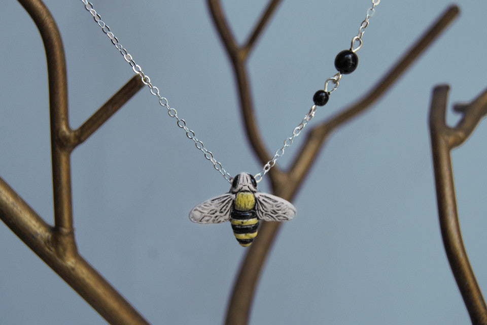 Large Bumble Bee Necklace