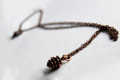 Copper Pine Cone Necklace