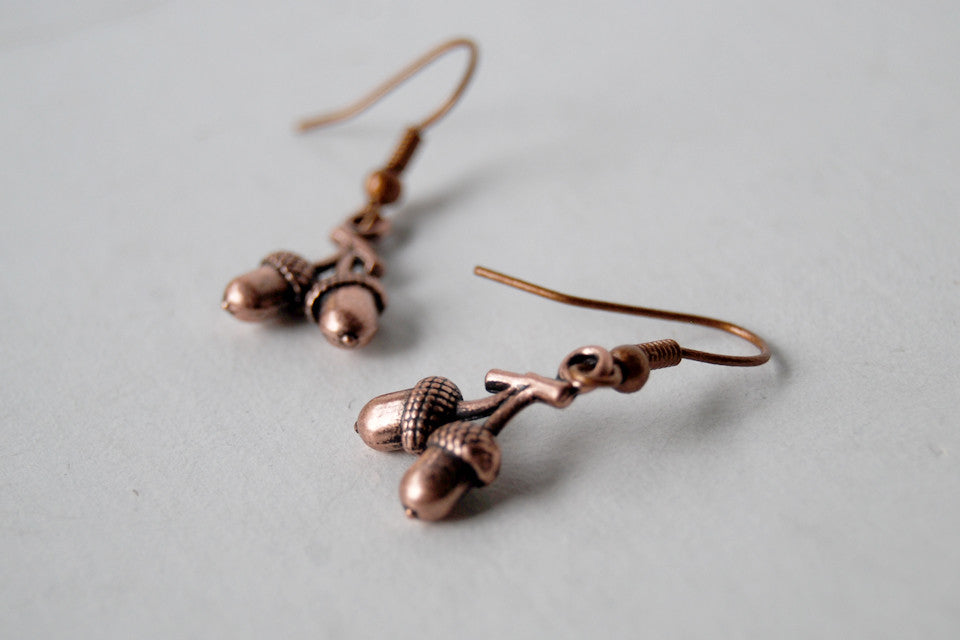 Twin Acorn Earrings
