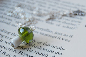 Large Glass Mushroom Necklace