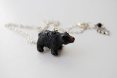 Large Black Bear Necklace
