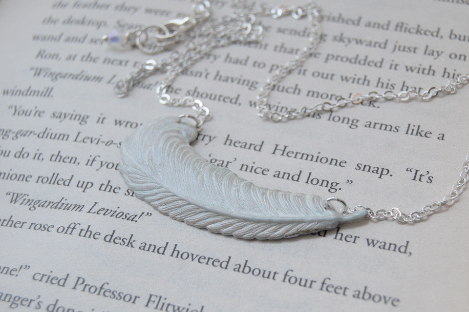 White Feather Necklace