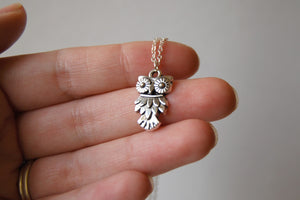 Little Silver Owl Necklace