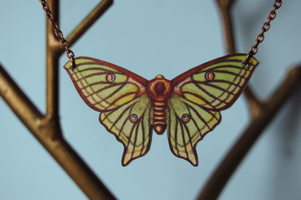 Spanish Luna Moth Necklace
