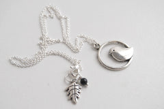 Minimal Silver Bird Necklace