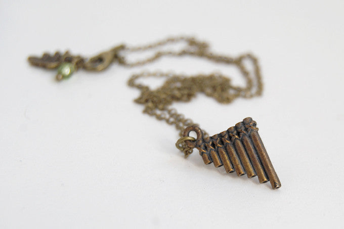 Peter Pan Pipe Necklace