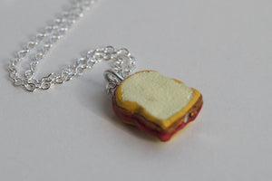 Peanut Butter & Jelly Sandwich Necklace