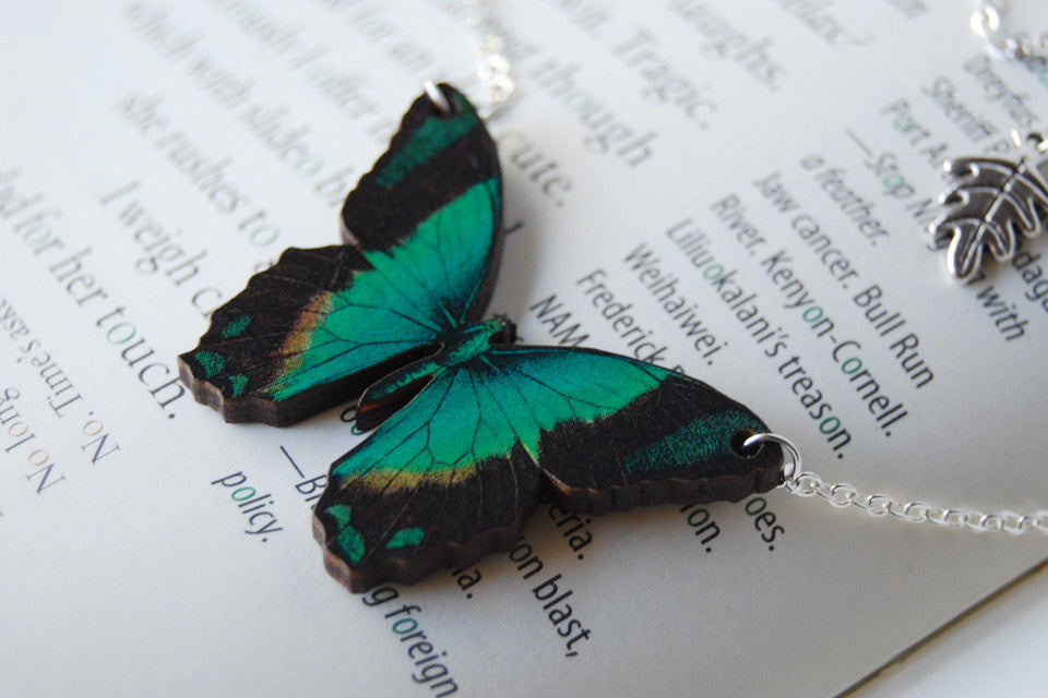 Radiant Swallowtail Butterfly Necklace