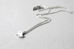 Little Silver Finch Necklace