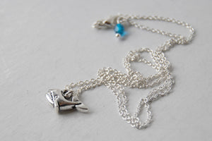 Little Silver Whale Necklace