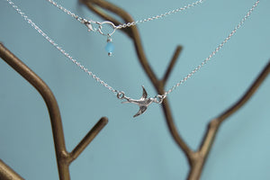 Little Swallow Bird Necklace