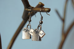 Teensy Tea Bag Earrings