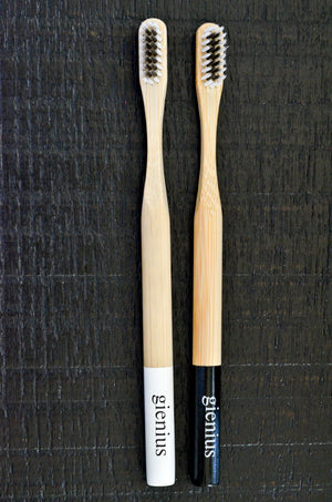 Bamboo Charcoal Toothbrush - Pack of 2 Black & White