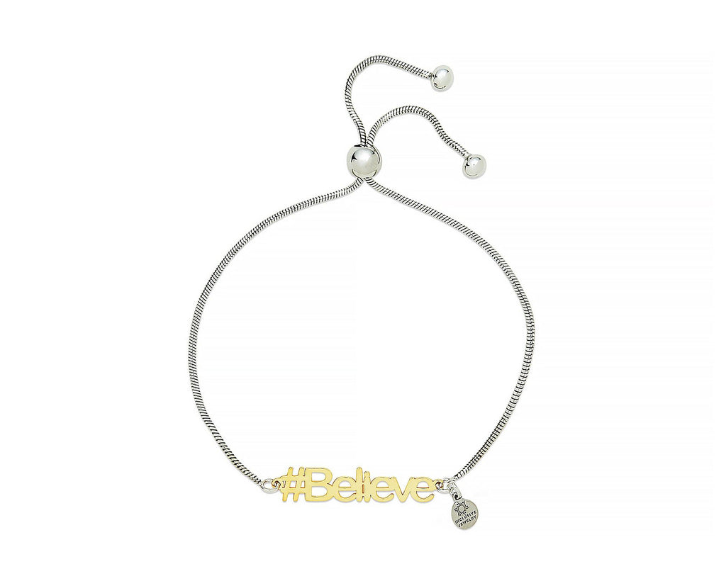 Believe Hashtag Bracelet - InclusiveJewelry