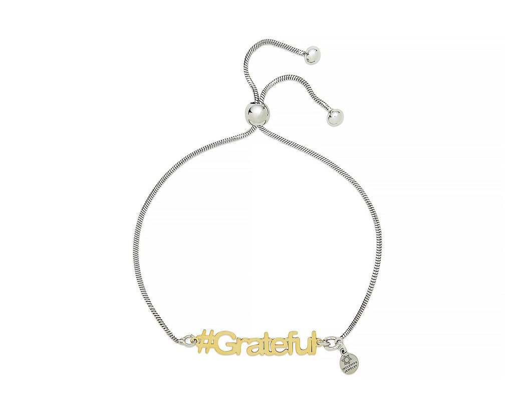 Grateful Hashtag Bracelet - InclusiveJewelry