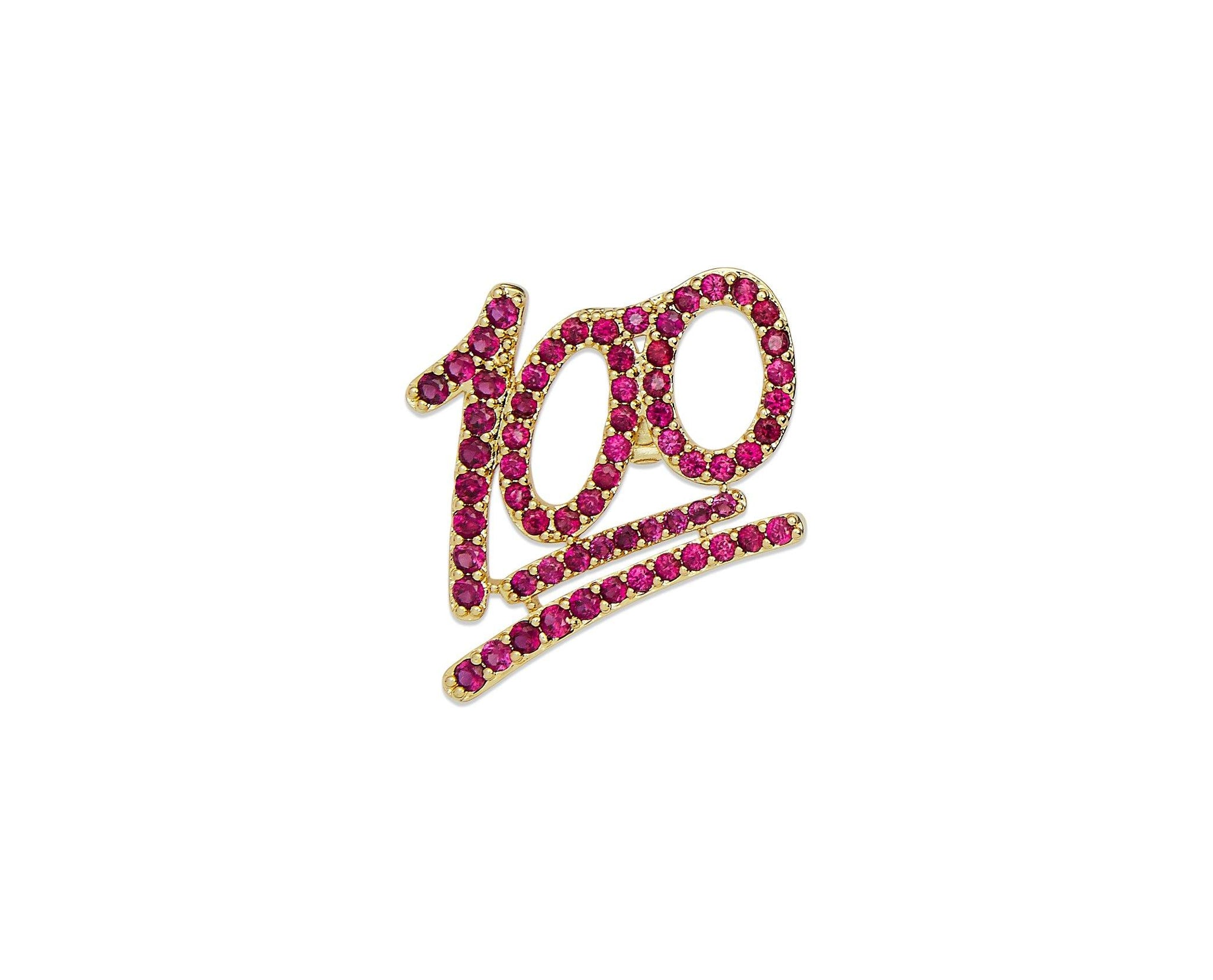 100 Percent Lapel Pin - InclusiveJewelry