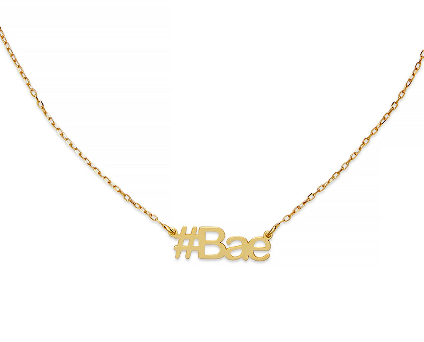 Bae Hashtag Necklace - InclusiveJewelry