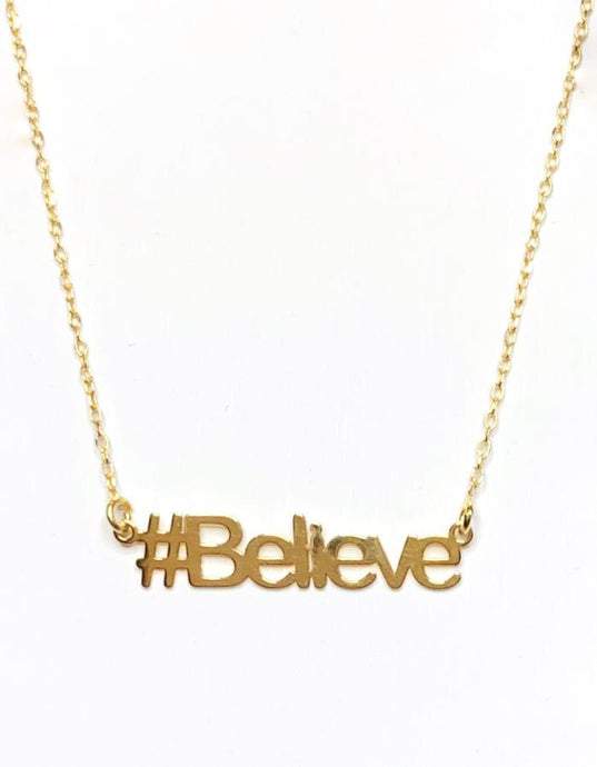 Believe Hashtag Necklace - InclusiveJewelry
