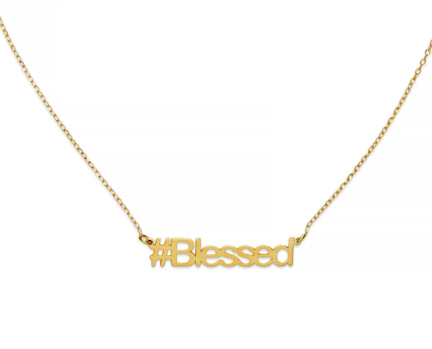 Blessed Hashtag Necklace - InclusiveJewelry