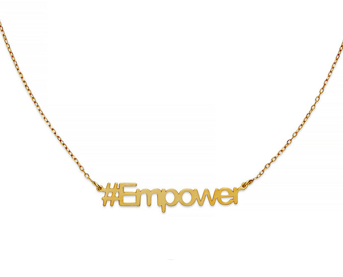 Empower Hashtag Necklace - InclusiveJewelry
