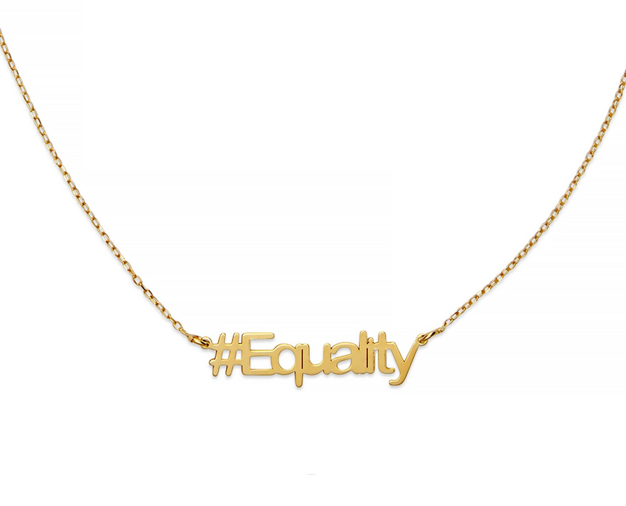 Equality Hashtag Necklace - InclusiveJewelry