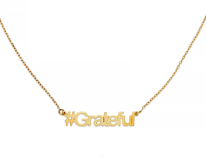 Grateful Hashtag Necklace - InclusiveJewelry