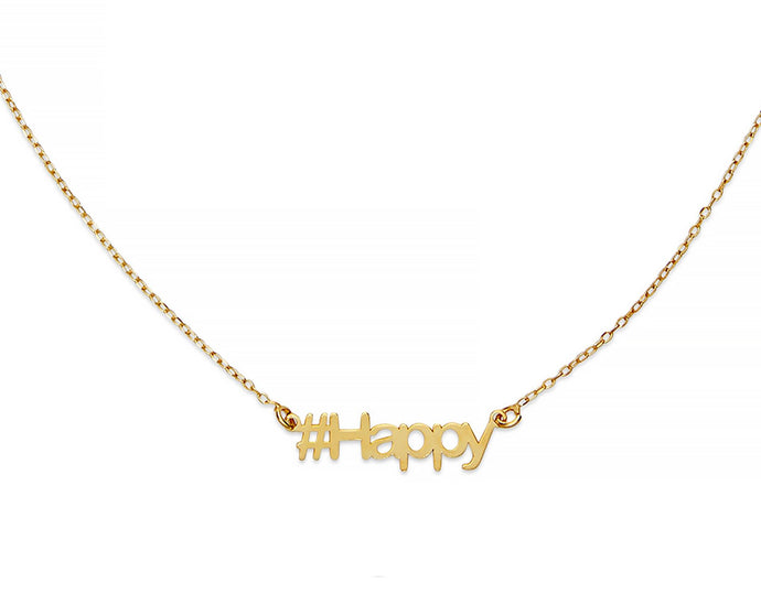 Happy Hashtag Necklace - InclusiveJewelry