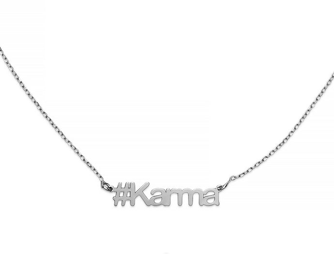Karma Hashtag Necklace - InclusiveJewelry