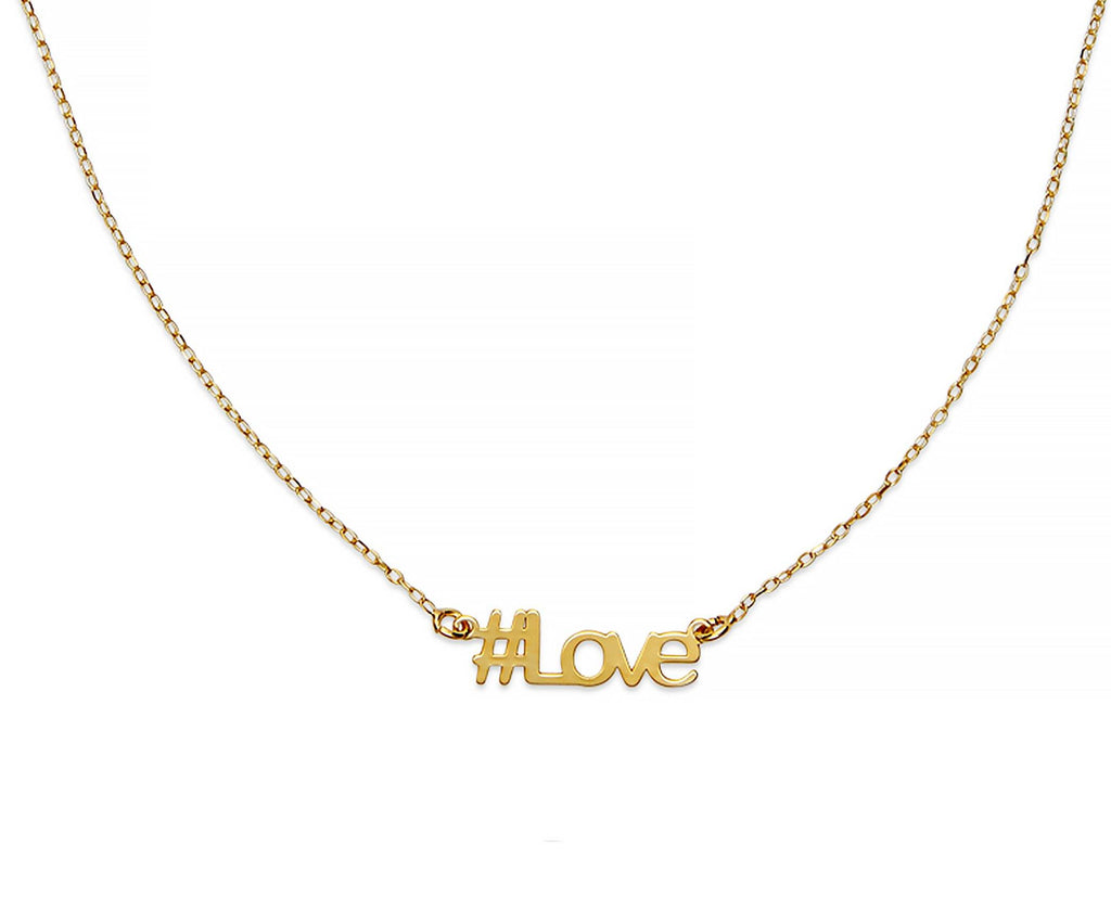 Love Hashtag Necklace - InclusiveJewelry