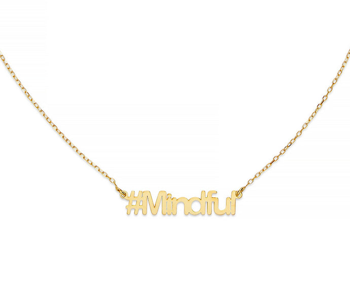 Mindful Hashtag Necklace - InclusiveJewelry