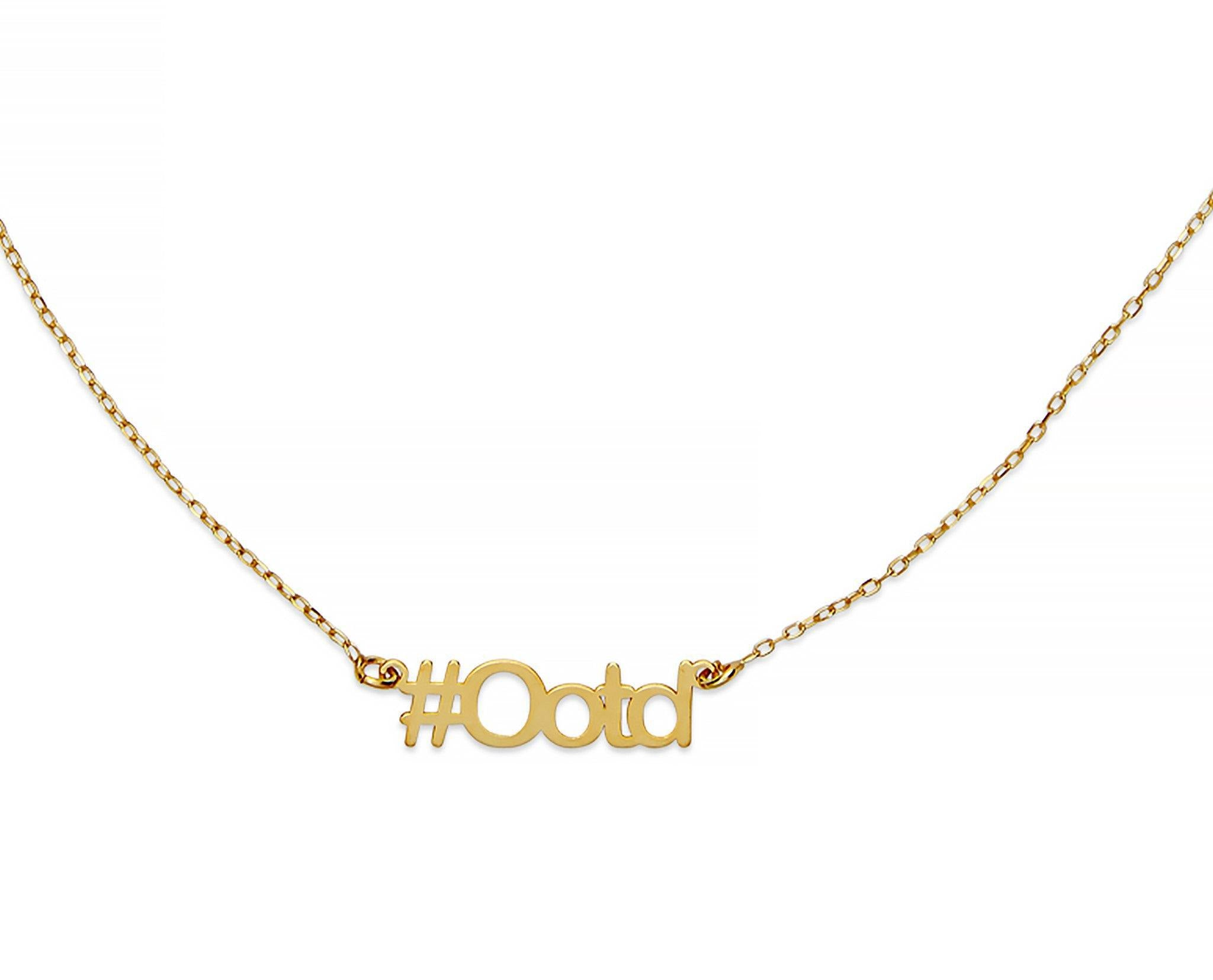 OOTD Hashtag Necklace - InclusiveJewelry