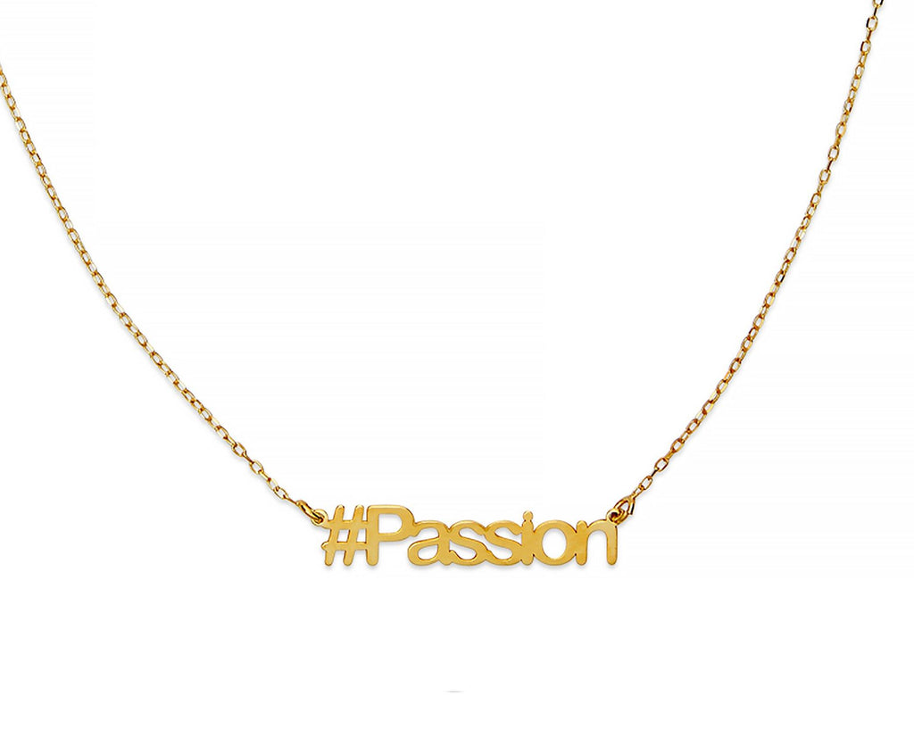 Passion Hashtag Necklace - InclusiveJewelry